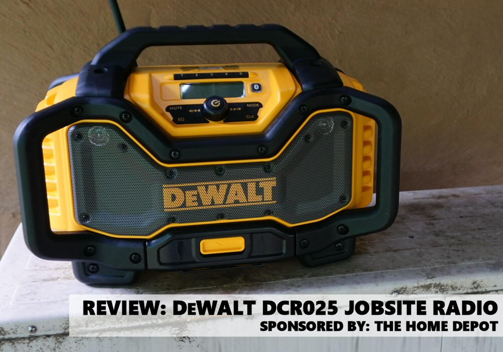 dewalt radio dcr025. dewalt dcr025 jobsite bluetooth radio and charger review - tool box one dewalt dcr025